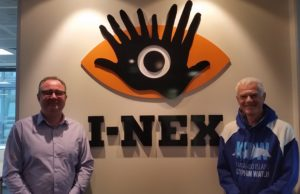 I -NEX Corporation Managing Director Mark De Raad and Dolphin Watch Coordinator Tony Bartram November 2016